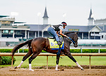 April 28, 2021: Super Stock, trained by trainer Steve Asmussen, exercises in preparation for the Kentucky Derby at Churchill Downs on April 29, 2021 in Louisville, Kentucky. Scott Serio/Eclipse Sportswire/CSM
