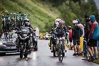 Simon Yates (GBR/BikeExchange) up the Col de la Colombière<br /> <br /> Stage 8 from Oyonnax to Le Grand-Bornand (150.8km)<br /> 108th Tour de France 2021 (2.UWT)<br /> <br /> ©kramon