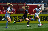 BRIDGEVIEW, IL - JUNE 5: Kealia Watt #2 of the Chicago Red Stars dribbles the ball during a game between North Carolina Courage and Chicago Red Stars at SeatGeek Stadium on June 5, 2021 in Bridgeview, Illinois.