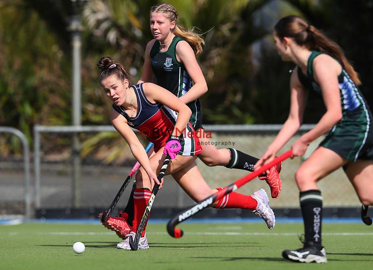 St Margarets College v Otumoetai College. Federation Cup Hockey, Lloyd Elsmore Park, Auckland, New Zealand, Monday 2 September 2019. Photo: Simon Watts/www.bwmedia.co.nz/HockeyNZ