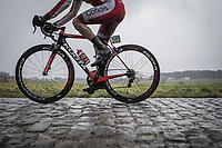 Geoffrey SOupe (Fra/Team Cofidis) on the cobbles.<br /> <br /> 73th Dwars Door Vlaanderen (1.UWT)<br /> 1day race: Roeselare › Waregem BEL (180km)