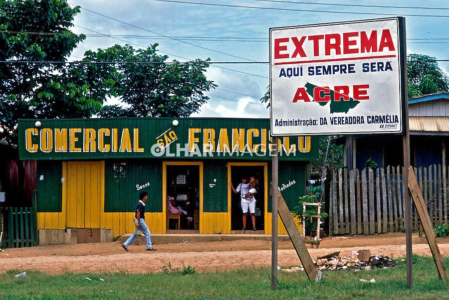 Cidade de Extrema em Rondônia. 1987. Foto de Cynthia Brito.