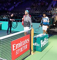 Rotterdam, The Netherlands, 14 Februari 2019, ABNAMRO World Tennis Tournament, Ahoy, quarter final, Jean-Julien Rojer (NED) / Horia Tecau (ROU),<br /> Photo: www.tennisimages.com/Henk Koster
