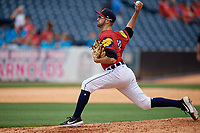 Toledo Mud Hens pitcher Ethan DeCaster (41) during an International League game against the Durham Bulls on July 16, 2019 at Fifth Third Field in Toledo, Ohio.  Durham defeated Toledo 7-1.  (Mike Janes/Four Seam Images)