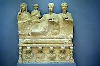SIRIA - sito di Palmira(Tadmor)  Museo Antichità  sculture funerarie