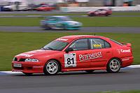 Rounds 4 of the 2002 British Touring Car Championship #81 Steve Wood (GBR). TH Motorsport. Mitsubishi Carisma.