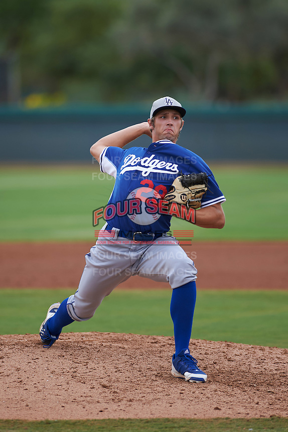 Los Angeles Dodgers pitcher Sven Schuller (29) during an instructional league game against the Cincinnati Reds on October 20, 2015 at Cameblack Ranch in Glendale, Arizona.  (Mike Janes/Four Seam Images)
