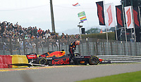 27th August 2021; Spa Francorchamps, Stavelot, Belgium: FIA F1 Grand Prix of Belgium, free practise:   Max Verstappen NEL 33 , Red Bull Racing Honda after his accident
