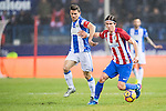 Filipe Luis of Atletico de Madrid in action during their La Liga match between Atletico de Madrid and Deportivo Leganes at the Vicente Calderón Stadium on 04 February 2017 in Madrid, Spain. Photo by Diego Gonzalez Souto / Power Sport Images
