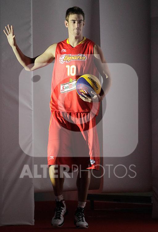Spain's basket national team Victor Claver during presentation for world championships. July 21, 2010. (ALTERPHOTOS/Alvaro Hernandez)