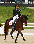 April 24, 2014: Pavarotti and Jessica Phoenix compete on the first day of Dressage at the Rolex Three Day Event in Lexington, KY at the Kentucky Horse Park.  Candice Chavez/ESW/CSM