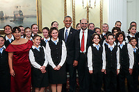 Pictured: US President Barack Obama poses for a group picture. Tuesday 15 November 2016<br /> Re: US President Barack Obama attends official stat banquet at the Presidential Mansion during his visit to Athens Greece