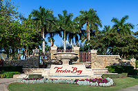 The entrance to the Traviso Bay Resort in Naples.