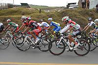 COLOMBIA. 09-08-2014. Julian Atehortua (#28) y Santiago Ojeda (#55) ciclistas durante la etapa 4, Nobsa – Duitama – Paipa – Tunja – Chía – Cota – 198.7 Km, de la Vuelta a Colombia 2014 en bicicleta que se cumple entre el 6 y el 17 de agosto de 2014. / Julian Atehortua (#28) and Santiago Ojeda (#55) cyclists during the stage 4, Nobsa – Duitama – Paipa – Tunja – Chía – Cota – 198.7 Km, of the Tour of Colombia 2014 in bike holds between 6 and 17 of August 2014. Photo:  VizzorImage/ José Miguel Palencia / Str