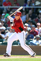 Russell Branyan #75 of the Arizona Diamondbacks plays against the Chicago Cubs in a spring training game at Salt River Fields on March 13, 2011 in Scottsdale, Arizona. .Photo by:  Bill Mitchell/Four Seam Images.