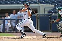 West Michigan Michigan Whitecaps first baseman Blaise Salter (24) follows through on his swing against the Fort Wayne TinCaps during the Midwest League baseball game on April 26, 2017 at Fifth Third Ballpark in Comstock Park, Michigan. West Michigan defeated Fort Wayne 8-2. (Andrew Woolley/Four Seam Images)
