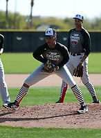 Christian Little participates in the 2019 MLB Dream Series on January 18-21, 2019 at the Los Angeles Angels training complex in Tempe, Arizona (Bill Mitchell)