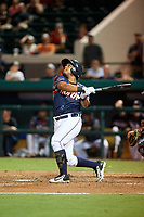 Lakeland Flying Tigers Arvicent Perez (13) bats during the Florida State League All-Star Game on June 17, 2017 at Joker Marchant Stadium in Lakeland, Florida.  FSL North All-Stars defeated the FSL South All-Stars  5-2.  (Mike Janes/Four Seam Images)