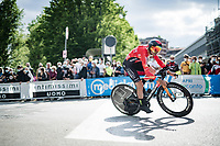 Mikel Landa (ESP/Bahrain - Victorious)<br /> <br /> 104th Giro d'Italia 2021 (2.UWT)<br /> Stage 1 (ITT) from Turin to Turin (8.6 km)<br /> <br /> ©kramon