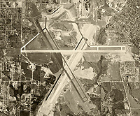 historical aerial photograph of Hartsfield–Jackson Atlanta International Airport (ATL),  Atlanta, Georgia, 1952