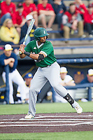 Eastern Michigan Hurons shortstop Marquise Gil (4) at bat against the Michigan Wolverines on May 3, 2016 at Ray Fisher Stadium in Ann Arbor, Michigan. Michigan defeated Eastern Michigan 12-4. (Andrew Woolley/Four Seam Images)