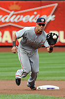 Washington Nationals infielder Ian Desmond #6 during a game against the New York Mets at Citi Field on September 15, 2011 in Queens, NY.  Nationals defeated Mets11-1.  Tomasso DeRosa/Four Seam Images
