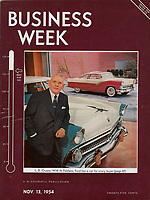 Business Week Cover, Nov 13, 1954, Ford Motor Company Executive L.D. Crusoe. Photograph by John G. Zimmerman.