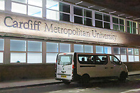 Kyle John, aprisoner of HMP Prescoed drives a Renault Master Mini Bus to collect a student from Cardiff Metropolitan University in south Wales, UK.