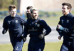 St Johnstone Training….15.03.19<br />Richard Foster pictured having fun with Blair Alston and Joe Shaughnessy during training this morning at McDiarmid Park ahead of tomorrow's game against St Mirren.<br />Copyright Perthshire Picture Agency<br />Tel: 01738 623350  Mobile: 07990 594431