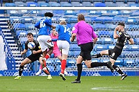 Andy Cannon of Portsmouth has a shot on goal during Portsmouth vs Doncaster Rovers, Sky Bet EFL League 1 Football at Fratton Park on 17th October 2020