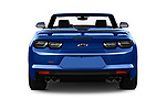 Straight rear view of a 2019 Chevrolet Camaro 2SS 2 Door Convertible stock images