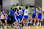 Eastern Long Lions players celebrating after winning the Final of Hong Kong Basketball League 2018 match between SCAA v Eastern Long Lions on August 10, 2018 in Hong Kong, Hong Kong. Photo by Marcio Rodrigo Machado/Power Sport Images