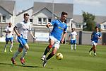 17.07.2021 Rangers B v Bo'ness Utd: Robbie Ure beats Kier Macauley