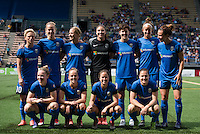 Seattle, Washington - Sunday, June 12, 2016: Seattle Reign FC starting IX prior to a regular season National Women's Soccer League (NWSL) match at Memorial Stadium. Seattle won 1-0.