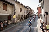 rolling through town<br /> <br /> Stage 17 from Grenoble to Méribel - Col de la Loze (170km)<br /> <br /> 107th Tour de France 2020 (2.UWT)<br /> (the 'postponed edition' held in september)<br /> <br /> ©kramon