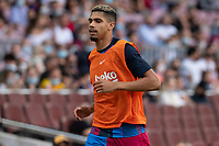 26th September 2021;   Nou Camp, Barcelona, Spain: La Liga football, FC Barcelona versus Levante: Araujo FCBarcelona player during the warm up