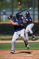 Milwaukee Brewers Dustin Houle (27) during an instructional league game against the Los Angeles Dodgers on October 13, 2015 at Cameblack Ranch in Glendale, Arizona.  (Mike Janes/Four Seam Images)