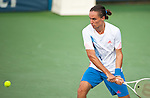 Alexandr Dolgopolov of Ukraine during his semifinal match at the Citi Open in Washington, DC on August 4, 2012.