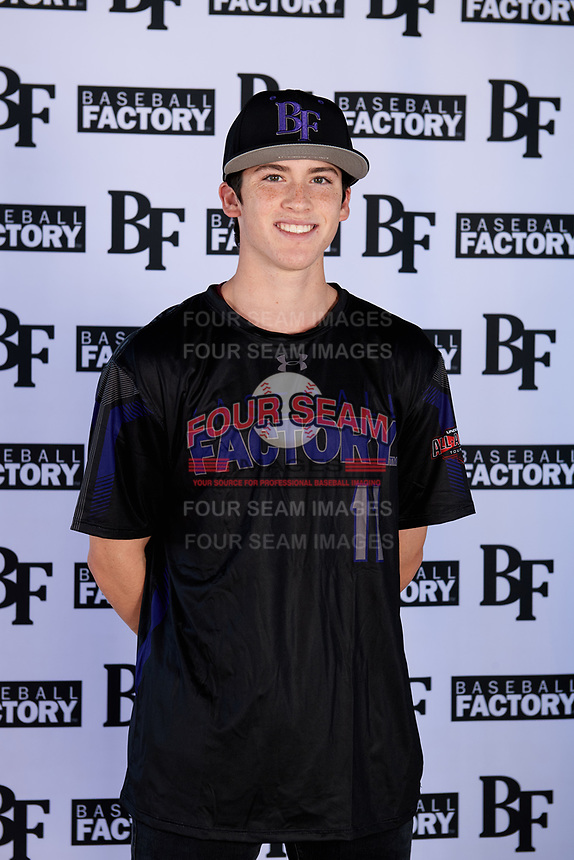Jeremy Thompson (11) of Samuel Champion High School  in Boerne, Texas during the Baseball Factory All-America Pre-Season Tournament, powered by Under Armour, on January 12, 2018 at Sloan Park Complex in Mesa, Arizona.  (Mike Janes/Four Seam Images)