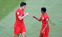 SAMARA - RUSIA, 07-07-2018: Harry MAGUIRE (Izq) jugador de Inglaterra celebra después de anotar el primer gol de su equipo a Suecia durante partido de cuartos de final por la Copa Mundial de la FIFA Rusia 2018 jugado en el estadio Samara Arena en Samara, Rusia. / Harry MAGUIRE (L) player of England celebrates after scoring the first goal of his team to Sweden during match of quarter final for the FIFA World Cup Russia 2018 played at Samara Arena stadium in Samara, Russia. Photo: VizzorImage / Julian Medina / Cont