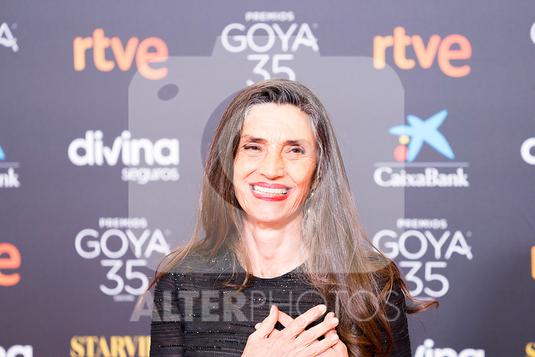 Actress Angela Molina attends the red carpet previous to Goya Awards 2021 Gala in Malaga . March 06, 2021. (Alterphotos/Francis González)