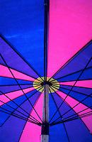 Colorful beach umbrellas in Asia