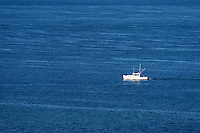 Recreational fishing boat off the coast of Martha's Vineyard, Massachusetts, USA