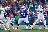 Buffalo Bills center Ryan Groy (72) blocks during an NFL football game against the New York Jets, Sunday, December 9, 2018, in Orchard Park, N.Y.  (Mike Janes Photography)