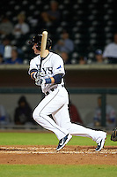 Mesa Solar Sox shortstop Daniel Robertson (26) at bat during an Arizona Fall League game against the Salt River Rafters on October 23, 2015 at Sloan Park in Mesa, Arizona.  Salt River defeated Mesa 5-1.  (Mike Janes/Four Seam Images)