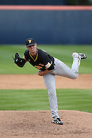 Cody Tyler (39) of the Wichita State Shockers pitches against the Cal State Fullerton Titans at Goodwin Field on March 13, 2016 in Fullerton, California. Cal State Fullerton defeated Wichita State, 7-1. (Larry Goren/Four Seam Images)