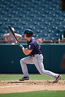 Binghamton Rumble Ponies Will Toffey (9) bats during an Eastern League game against the Bowie Baysox on August 21, 2019 at Prince George's Stadium in Bowie, Maryland.  Bowie defeated Binghamton 7-6 in ten innings.  (Mike Janes/Four Seam Images)