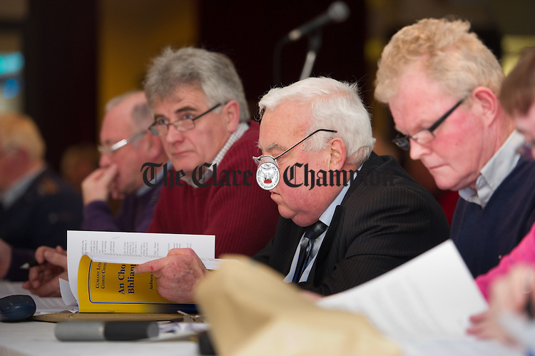 at the Clare GAA county convention at The Auburn Lodge hotel in Ennis. Photograph by John Kelly.