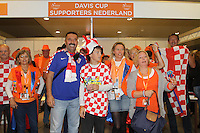 September 14, 2014, Netherlands, Amsterdam, Ziggo Dome, Davis Cup Netherlands-Croatia, Dutch and Croatian fans join together<br /> Photo: Tennisimages/Henk Koster