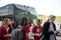 FRESNO, CA--Toni Kokenis waits on the loading dock entrance with her team before taking on Duke at the Save Mart Center for the West Regionals Championship of the 2012 NCAA Championships.